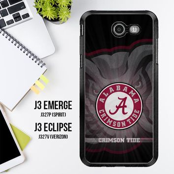 Alabama Crimson Tide G0099 Samsung Galaxy J3 Emerge, J3 Eclipse , Amp Prime 2, Express Prime 2 2017 SM J327 Case