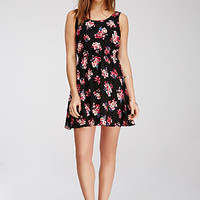 Floral Print Knot-Back Dress
