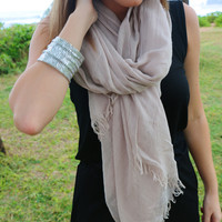 Super Soft Spring Scarf in Natural