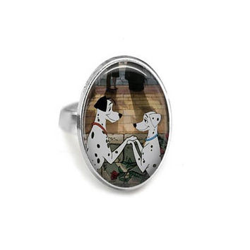 Pongo & Perdita Wed Adjustable Ring