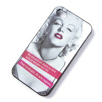 Marilyn Monroe We Should All Start to Live iPhone Case for 4 & 4S