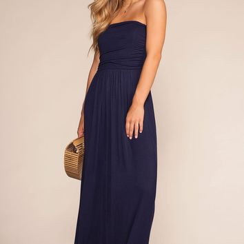 Sunrise Pocket Maxi Dress - Navy