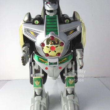 Power Rangers Dragonzord Action Figure Bandai 1990s Vintage MMPR