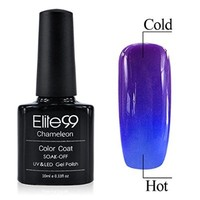 Chameleon Temperature Changing Colour Nail Lacquers Soak Off UV LED Gel Polish Orange - Azure Blue