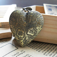 2pcs 29x17m Ancient Bronze Peach heart pattern box L409 by bjerkf