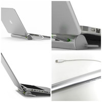 Aluminum Stand and 4 Port USB 3.0 HUB MacBook Air, MacBook Pro, Laptop, notebook