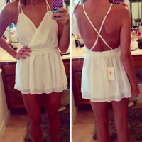 Callie White Romper