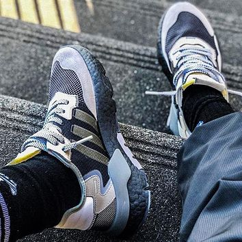 Adidas 2019 Nite Jogger Boost Retro Running Shoes Black grey