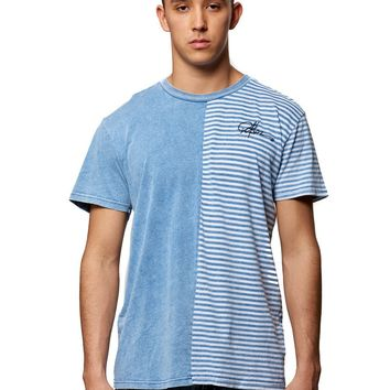 Twice Removed Tee- Indigo/Striped