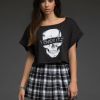 Over It Skull Crop Top