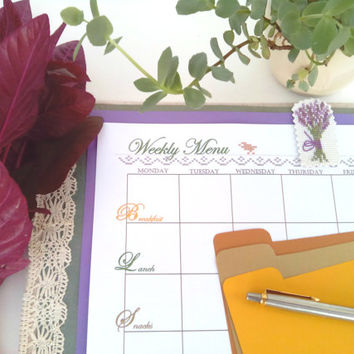 Meal planning Menu Planner Dinner Ideas Template Healthy Plans Weekly Calendar Daily Planner Grocery Shopping List Inventory Tracker Binder