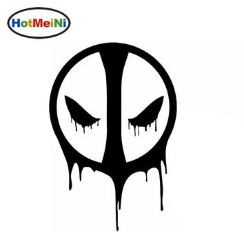 HotMeiNi Horrible Death Faces The Shadow of Death Deadpool Funny Car Sticker for Rv Truck Window Car Cover Vinyl Decal 10 Color