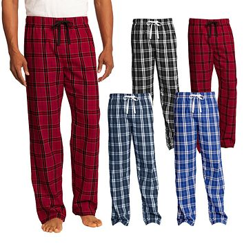 XtraFly Apparel Men's Flannel Plaid Pajamas PJ Basic Casual Sleep Lounge Pants