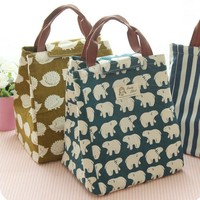 Waterproof Lunch Bag for Women kids Men Cooler Lunch Box Bag Tote canvas lunch bag Insulation Package Portable drop ship#SL