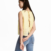 H&M Cotton Blouse with Embroidery $24.99