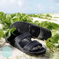 Black Classic Jandals ® -- Pali Hawaii Hawaiian Jesus Sandals