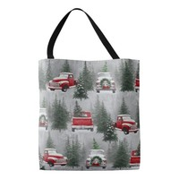 Cute Christmas Scene ALL OVER PRINT TOTE