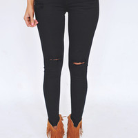 Black Destructed Skinny