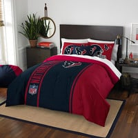 Houston Texans NFL Full Comforter Set (Soft & Cozy) (76 x 86)
