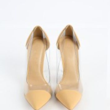 Shoe Republic LA Gwen Clear Pointy Pumps