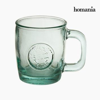 Recycled Glass Pitcher Transparent - Pure Crystal Kitchen Collection by Homania