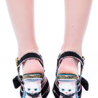 Irregular Choice Here Kitty Heels Black