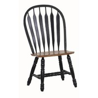 ECI Furniture Bow Back Side Chair In Black With Rustic Finish