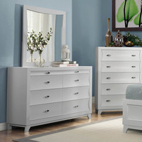 Homelegance Zandra 6 Drawer Dresser w/ Mirror in White