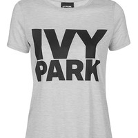 Logo Crew Neck Tee by Ivy Park - Topshop