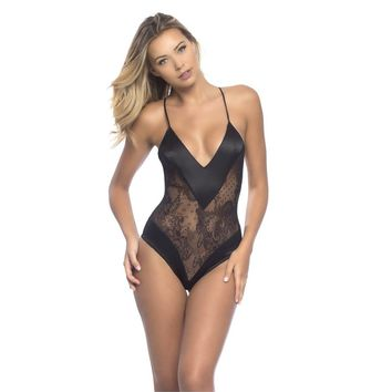 Oh La La Cheri OLL-52-10646  Roxanne All Over Lace Teddy