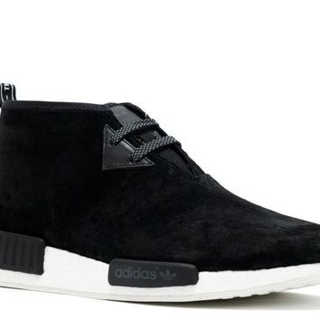 Ready Stock Adidas Nmd C1 Boost Chukka Black White Sport Running Shoes