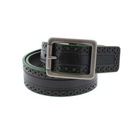 Tommy Bahama Mens Leather Laser Cut Casual Belt