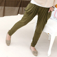 YESSTYLE: 59 Seconds- Pocket-Detail Harem Pants (Army Green - One Size) - Free International Shipping on orders over $150