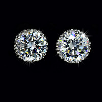 Gold-Filled Swiss Diamond Stud Earrings