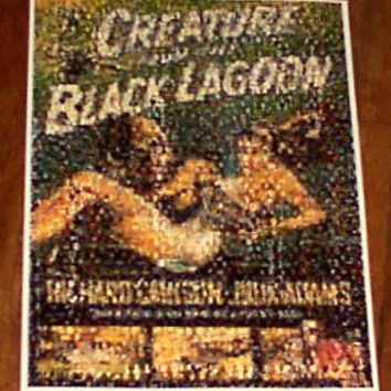 The Creature from the Black Lagoon Movie Poster montage