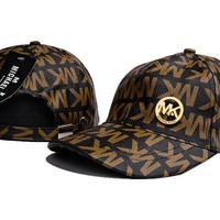 MK Women Men Fashion Logo Adjustable Travel Hat Sport Cap