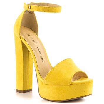 Chinese Laundry 'Avenue' yellow sandal heels
