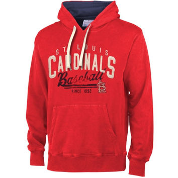 St. Louis Cardinals Field Goal Poly-Sueded Fleece Hoodie – Red