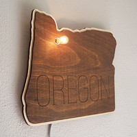 Custom Lit Wood State Sign City Wall Hanging Sign - Lit Marquee Wall Decor Housewarming Gift Wedding Gift