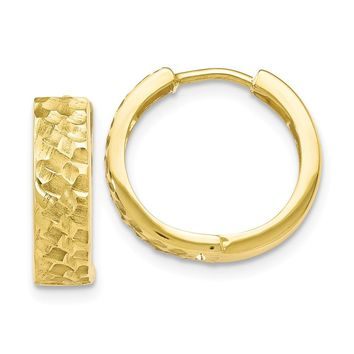 Leslie's 10k Yellow Gold Hammered Hoop Earrings