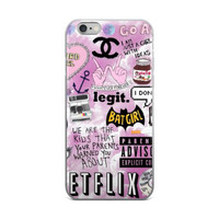 Girl Code Collage Chanel Bat Girl Nutella Netflix Anchor Poems Teen Cute Girly Girls iPhone 4 4s 5 5s 5C 6 6s 6 Plus 6s Plus 7 & 7 Plus Case
