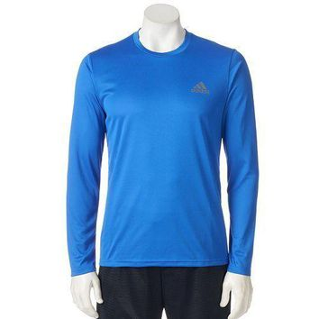 NWT - Men's adidas Climalite Long Sleeve Performance Shirt - ROYAL BLUE Size XL