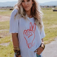 Peace Out Graphic Tee