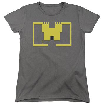 Atari Womens T-Shirt Adventure Screen Art Charcoal Tee
