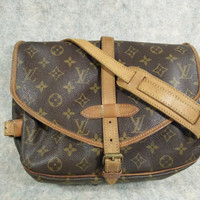 Authentic Louis Vuitton Monogram Saumur30 Vintage 1995, Crossbody, Shoulder Bag, Handbag, Purse, more photos link inside