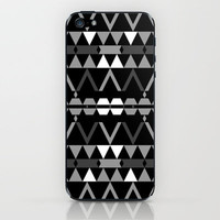 Mix #369 - Black And White iPhone & iPod Skin by Ornaart