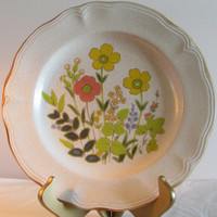 Prairie Bouquet Ironstone Plate, Replacement Plate, Stoneware Plate, laslovelies