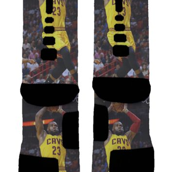 Lebron James Custom Nike Elite Socks