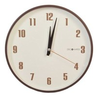 Silent Non-Ticking Retro Wall Clock In Brown & White