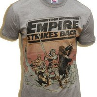 Junk Food Star Wars The Empire Strikes Back Heather Grey Adult T-Shirt